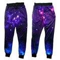2016 Новый женский бегунов брюки 3D графика galaxy пространство тренировочные брюки harajuku штаны мужчины/женщины хип-хоп брюки размер S-XL