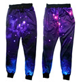 2016 New women joggers pants 3D graphic galaxy space sweat pants harajuku sweatpants men/women hip hop trousers size S-XL