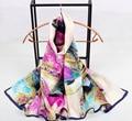 124 серии 22 цвета 2017 Новые женская Мода Шелковые Платки Шарф Прямоугольник Шарфы, бесплатная доставка 16 конструкции Мусульманский Хиджаб