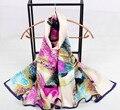 124 de la serie 22 colores 2017 Más Nuevas mujeres de la Moda Bufandas Chales Bufanda de Seda Rectángulo, envío gratis 16 diseños Musulmán Hijab