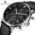 PAGANI Дизайнерские мужские часы Топ бренд класса люкс водонепроницаемые 30 м натуральная кожа японский VK67 механизм кварцевые часы Relogio Masculino