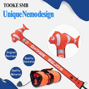 Image 3 - Boya con marcador de superficie de buceo de colores, boya con señal de seguridad submarina SMB, boya flotante con tubo inflable para salchichas 1,5 m 1,2 m 1,8 m