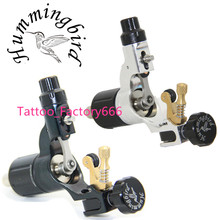 Pro 2 pcs Black&Silver Hummingbird V2 Original Swiss Motor Rotary Tattoo Machine Gun kit liner shader for cord