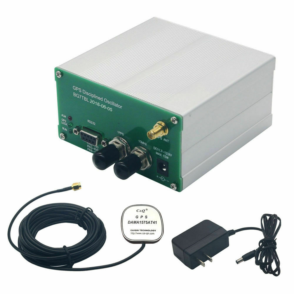made by Bg7tbl 10MHz GPS DISCPLINED CLOCK GPSDO 10M OUTPUT Sine WAVE sinewave +power supply +Antenna