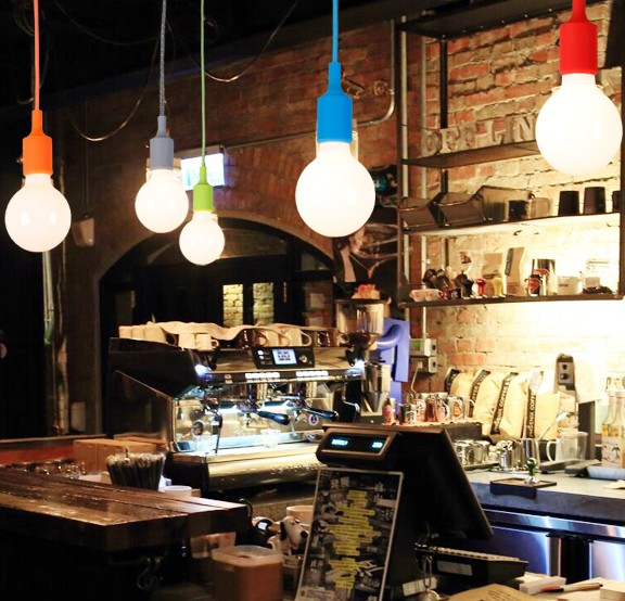 Simple Color Plastic Droplight Modern LED Pendant Light Fixtures For Dining Room Bar Hanging Lamp Indoor Lighting Lamparas