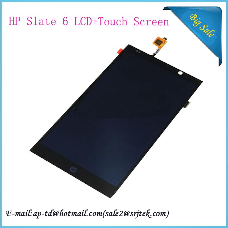 High Quality 7'' For Hp Slate 6 Tablet PC LCD Display+Touch Screen Full Assembly Glass Sensor Digitizer Replacement Parts high quality n9300 full lcd 5 7 lcd