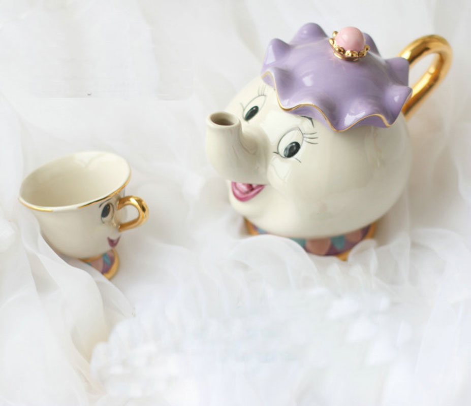 Portable Ceramic Teapots Cute Animal Teapots Sets