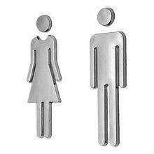 Клейкий мужской женский знак на туалетную дверь Ванная комната Туалет WC знак на дверь для WC знак на туалетную дверь стикер