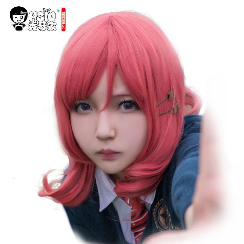 HSIU LoveLive! Love Live Cosplay Wig Maki Nishikino զգեստները խաղալ մեծահասակների wigs Հելոուին Անիմե մազերի անվճար առաքում