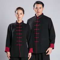 unisex pure cotton Tai Chi clothing sets wing chun kung fu suits wushu martial arts uniforms gray/blue/black/white/beige