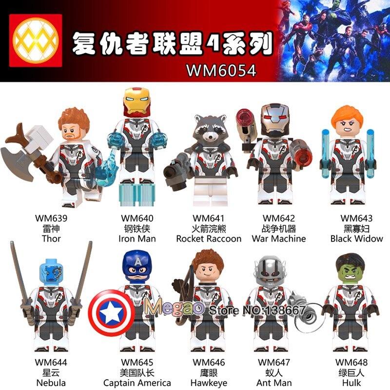 Avengers Endgame Marvel Hulk Infinity War Superheroes Building Blocks Toys New
