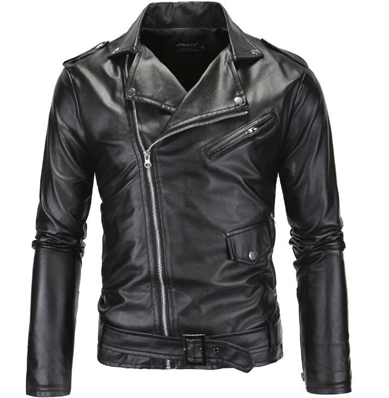 New Vintage Retro Motorcycle Jackets Men PU Leather Jacket Biker Punk Faux Leather Slim Classical Windproof Moto Jacket free shipping new vintage brand clothing mens cow leather jackets men genuine leather biker jacket motorcycle homme fitness