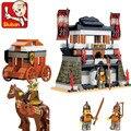 Sluban kits de edificio modelo compatible con lego ciudad castillo 828 bloques 3D aficiones modelo Educativo y juguetes de construcción para los niños