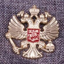 Эмалированный значок орлы России