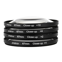 67mm macro close-up + 1 + 2 + 4 + 10 lente filtro close up set para 67mm canon nikon pentax sony