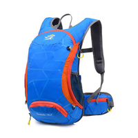 Lightweight 15L Ripstop Waterproof Ultralight Back Bag for Bicycle Cycle Hydration Backpacks (Optional 2L TPU Water Bladder)