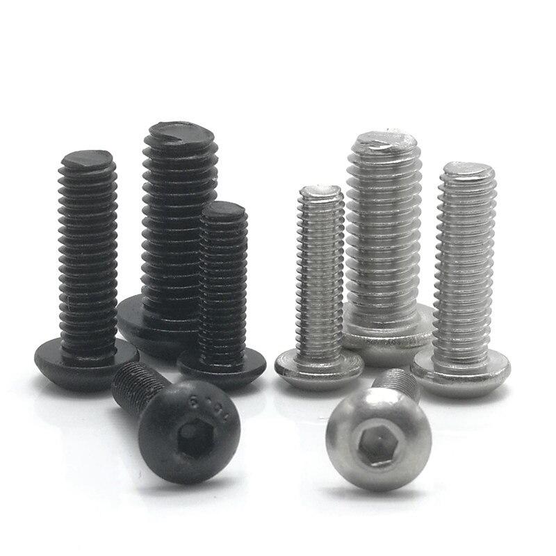 10.9 Grade M4 M5 M6 M8 Nickel Bolt Hex Button Head Cap socket Machine Screws