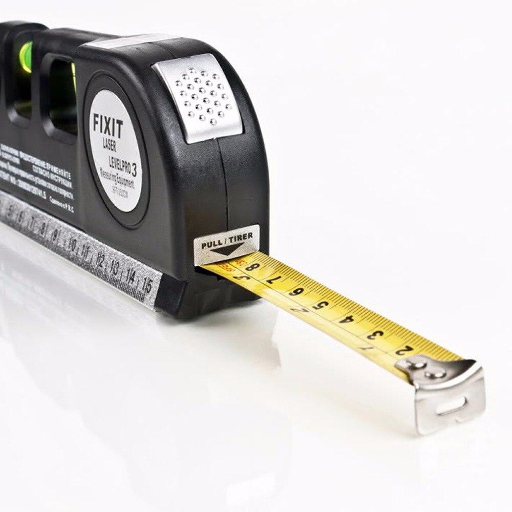 Laser Level Horizon Aufrecht Messen 8FT Aligner standard-und Metrischen Herrscher Mehrzweck Messen Level Laser Schwarz