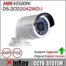Original Hikvision DS-2CD2042WD-I Full HD 4MP High Resoultion 120db WDR POE IR IP Bullet Network CCTV Camera English Version