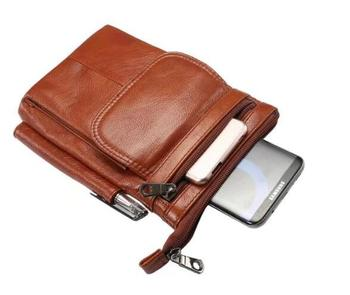 Genuine Cow Leather Hook Loop Clip Shoulder Belt Phone Case For Xiaomi Black Shark Helo,Mi Max 3 2,Mi A1 A2 Lite,Mi Mix 3 2 2s 6