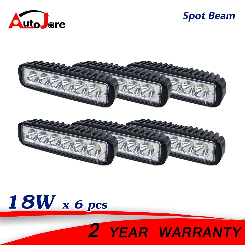 6x 18w spot led work light ip67 12 volt led drivinng lamp. Black Bedroom Furniture Sets. Home Design Ideas