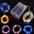 10pcs/Lot Christmas 5M 50 Leds Copper Wire LED String Light  3AA Battery Fairy String Lights Lamps For Holiday Wedding Party