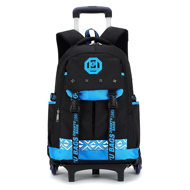 2018 Fashion Boys detachable Trolley backpack Girls School Bag children Travel Luggage Suitcase On Wheels kids Rolling bookbag