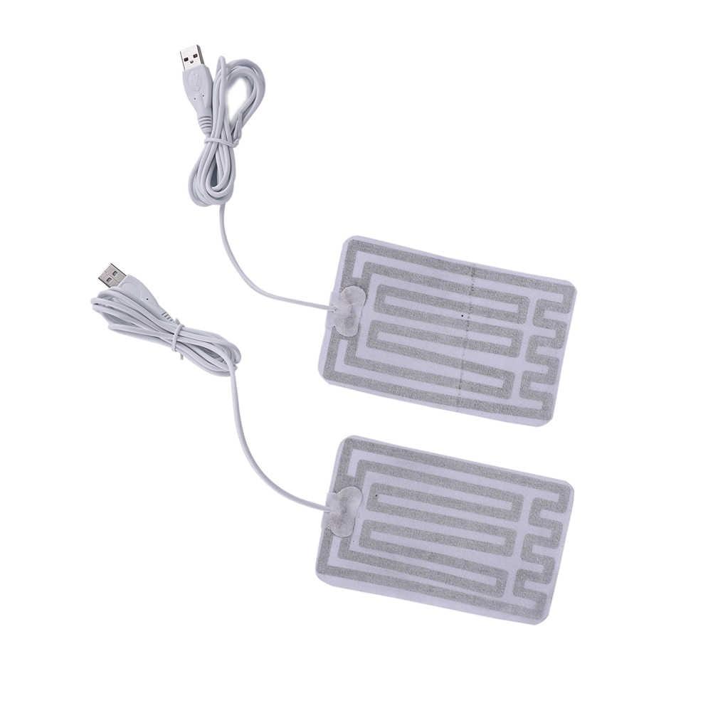 5V USB ısıtma pedleri DIY USB ısıtmalı eldiven sıcak fare altlığı isı ayak diz karbon fiber ısıtmalı sağlık bakım 8x13cm