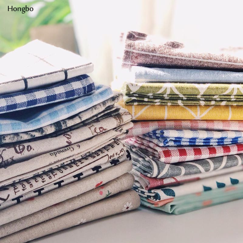 Hongbo 1 Pcs Plaid Cotton Placemat Japanese Fashion Style Fabric Table Mats Napkins Simple Design Tableware Kitchen Tool in Mats Pads from Home Garden