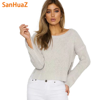 SanHuaZ Brand 2017 Autumn Winter Women S Sweaters Casual O Neck Long Sleeve Loose Knitted Women