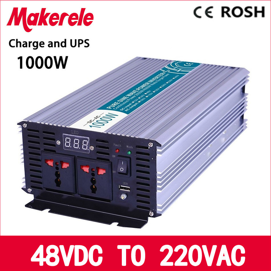 MKP1000-482-C 48vdc to 220vac 1000w UPS inverter power Pure Sine Wave solar inverter voltage converter with charger and UPS 6es5 482 8ma13