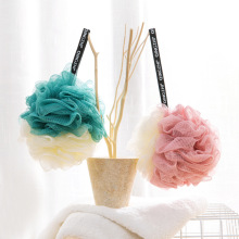 High-end Large Solid Bath Balls Rich bubbles Body Flower Sponge Shower Brush Wash Scrubber Mesh Soft Puff