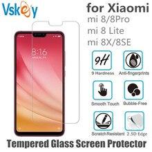 VSKEY 100 шт 2.5D Закаленное стекло для Xiaomi mi 8 SE протектор экрана для Xiao mi 8 Lite 8X защитная пленка против царапин