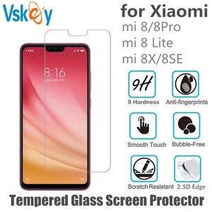 Image 1 - VSKEY 100 個 2.5D 強化ガラスシャオ mi mi 8 SE スクリーンプロテクターシャオ mi 8 Lite 8X アンチスクラッチ保護フィルム
