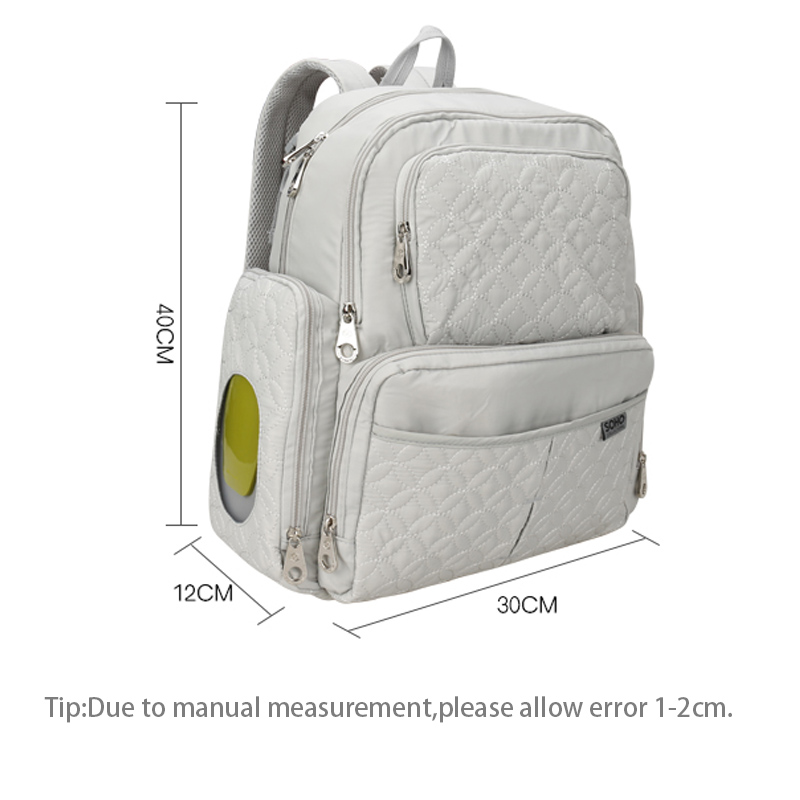 5 Pcs Baby Diaper Bag Large Capacity Baby Care Nappy Bags Multifunction Stroller Hang Tote Mummy Nylon Backpack Mochila BB6029 (8)