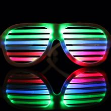 LED glasses round carnival festival holiday supplies party d