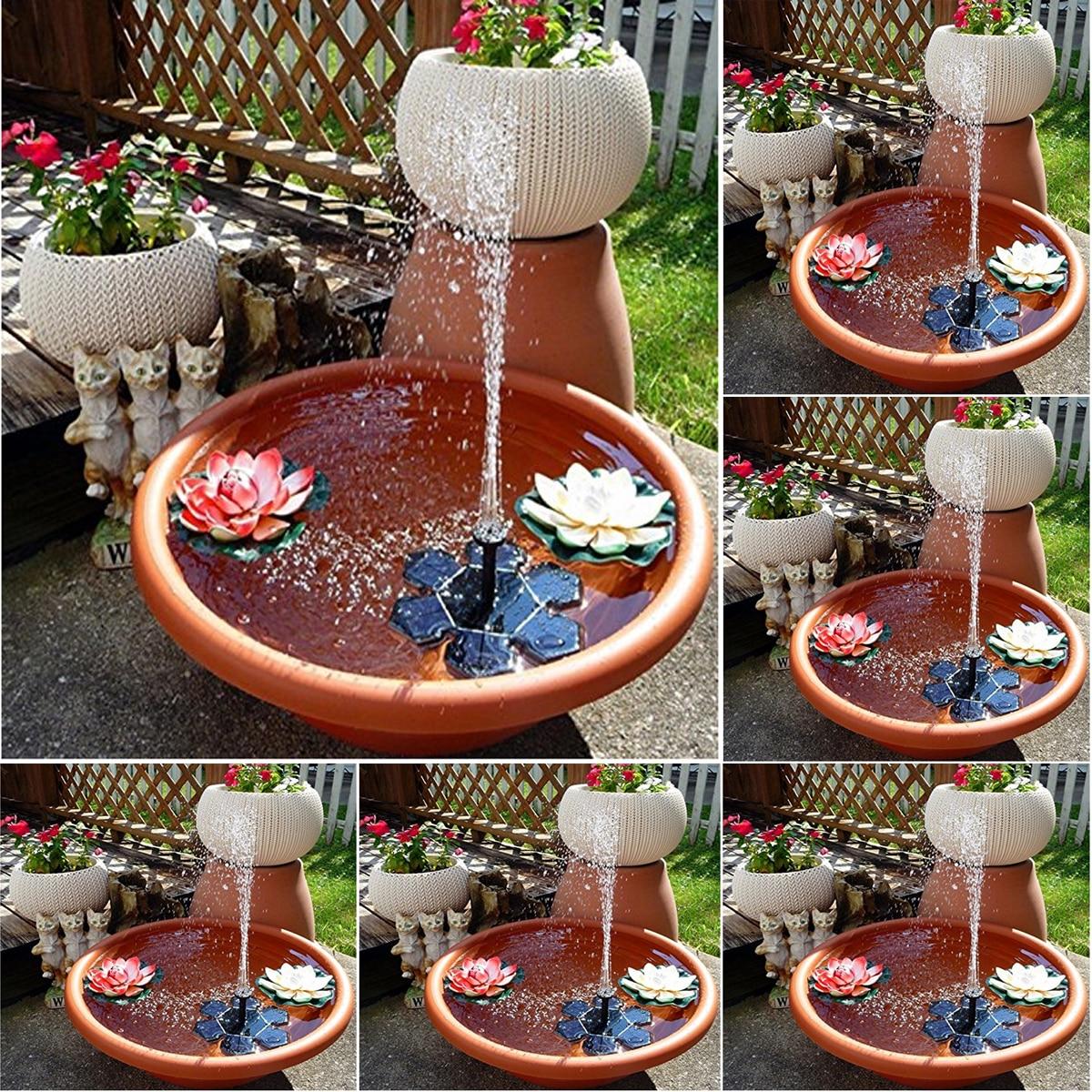 Solar brunnen Wasserpumpe Garten Pool Teich Vogel Bad Fisch Tank Park Indoor Landschaft Hause Dekoration Collector Neue