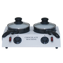 Electric double chocolate melting dipping pot chocolate machine warmer melter pan