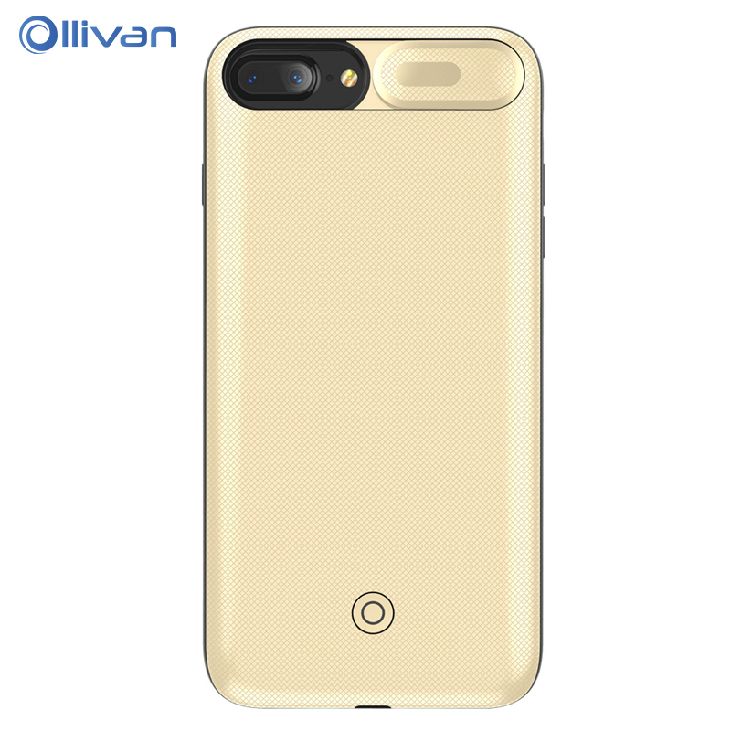 OLLIVAN 3000mAh Clip Battery Charger Cases for iPhone 6 6s 7 8 4.7inch Power Bank Charing Case Backup Charger Cover for 6 s Plus