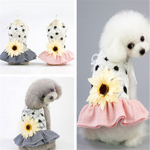 High Quality 2019 Sweet Lovely Puppy Dog Princess Dress Camisole Gauze Skirt Pet