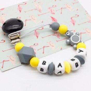 Mini tortuga personalizada silicona chupete clip silicona masticar perlas joyería dentición bebé