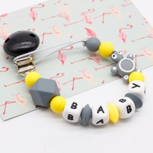 Mini turtle Personalized Silicone Pacifier clip Silicon Chew Beads Baby teething jewelry