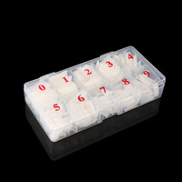 10Pcs New 500 Pieces Full Cover French Artificial False Nail Tips For DIY In Box