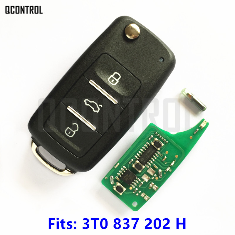 QCONTROL Car Remote Key 434MHz for SKODA 3T0837202H Citigo/Fabia/Octavia/Rapid/Roomster/Superb/Yeti Keyless Entry