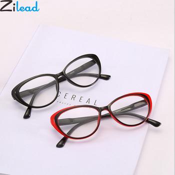 Zilead Classcial Cat Eyes Reading czyste soczewki do okularów okulary do okularów starczowzroczność okulary + 1 0 + 1 5 + 2 0 + 2 5 + 3 0 + 3 5 + 4 0 Unisex tanie i dobre opinie Jasne Lustro YJ0895 4 4cm Poliwęglan Z tworzywa sztucznego 200002198 200002198 200002198 200002198 200002198 200002198