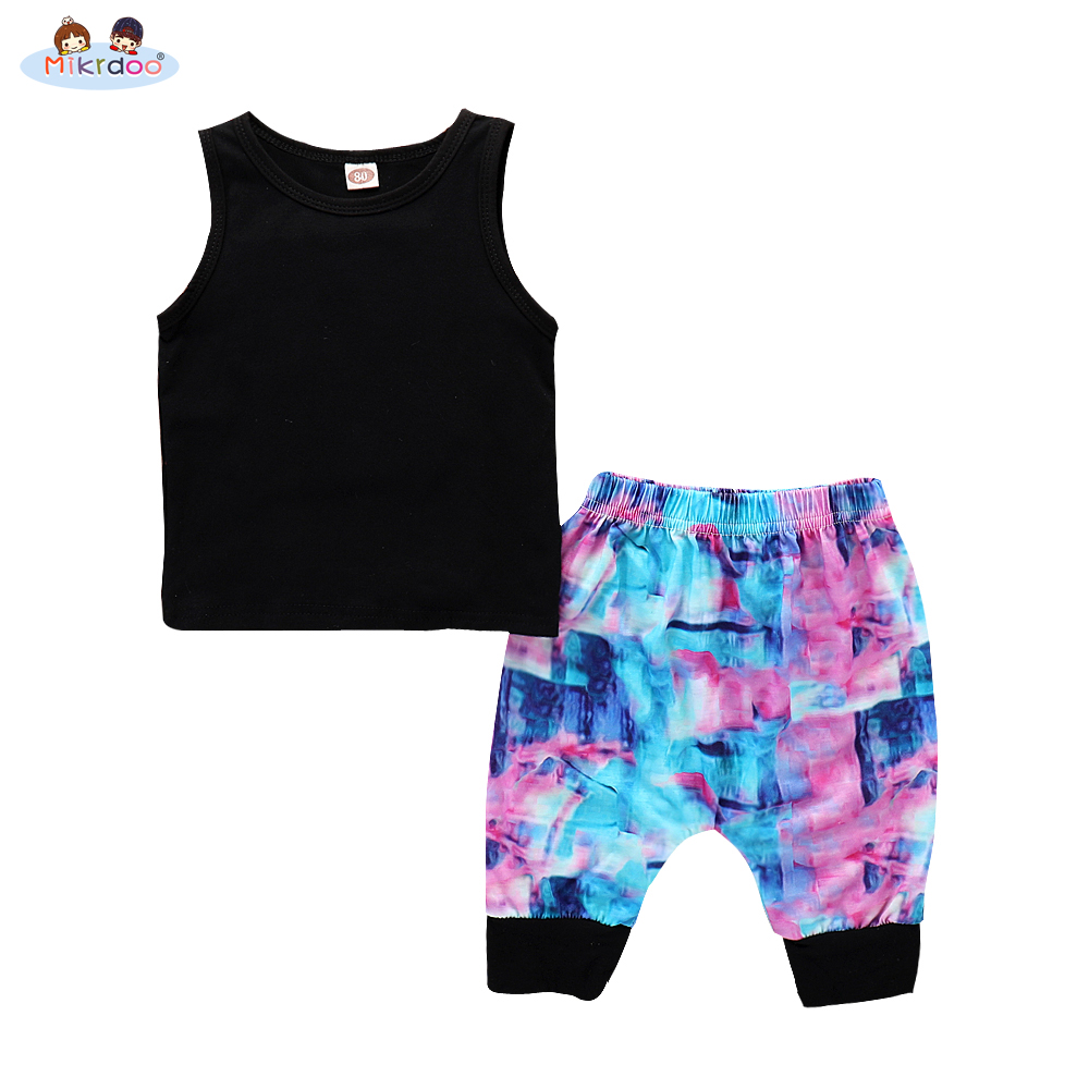 Baby girl clothes 2018 summer Newborn Infant Kids Baby Boy Girl Clothes Set Cotton Striped vest T-shirt Top + Pants Outfit Set kids newborn infant baby girl gifts clothes floral long sleeve tops shirt pants trousers outfit set