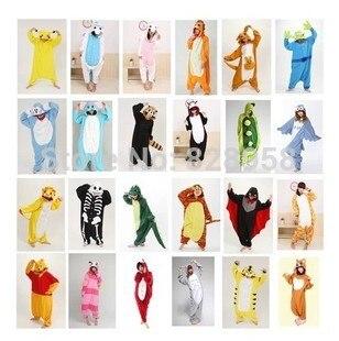 22 Conjuntos de pijamas de animales de invierno de franela de color Mujeres y hombres Pareja Ropa de hogar Familia Mujeres Pijamas