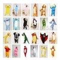 22 Cor de Flanela Inverno Animal Pijama Define Mulheres Sleepwear Pijama de Mulheres e homens Casal Domésticos Roupas Família