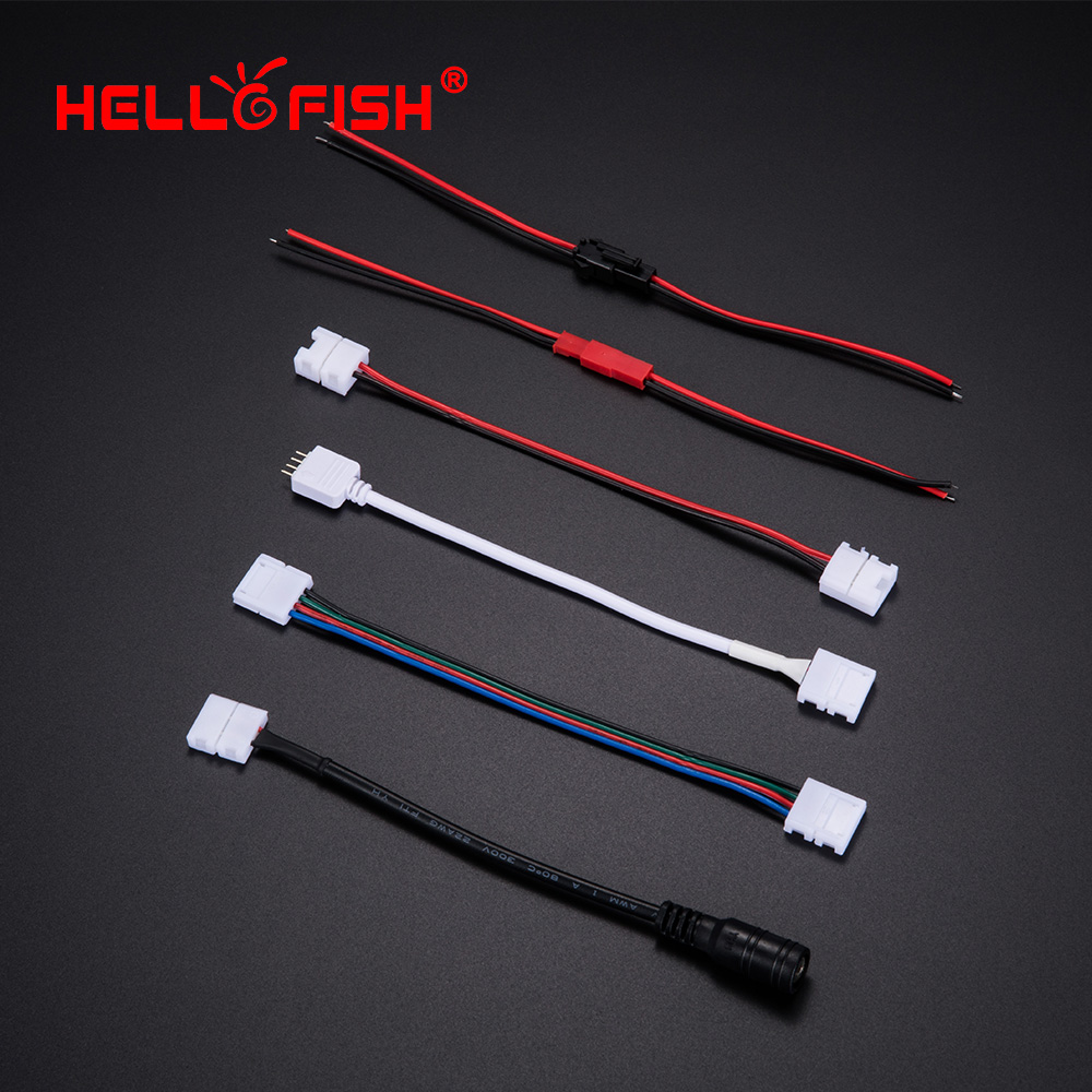 <font><b>cable</b></font> wire connector female male <font><b>12</b></font> 24V led strip RGB RGBW accessories 2 4 5 <font><b>pin</b></font> Hello Fish image