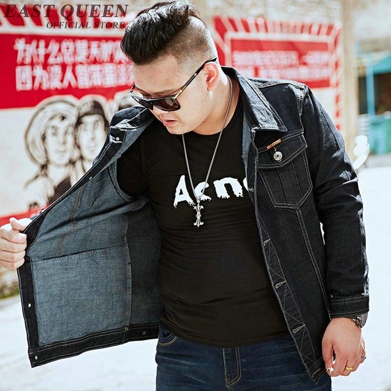 Джинсовая куртка для мужчин 2018 Осенние новые куртки модные джинсы пальто брендовая одежда мужская куртка бомбер Большие размеры KK1841 H - 4